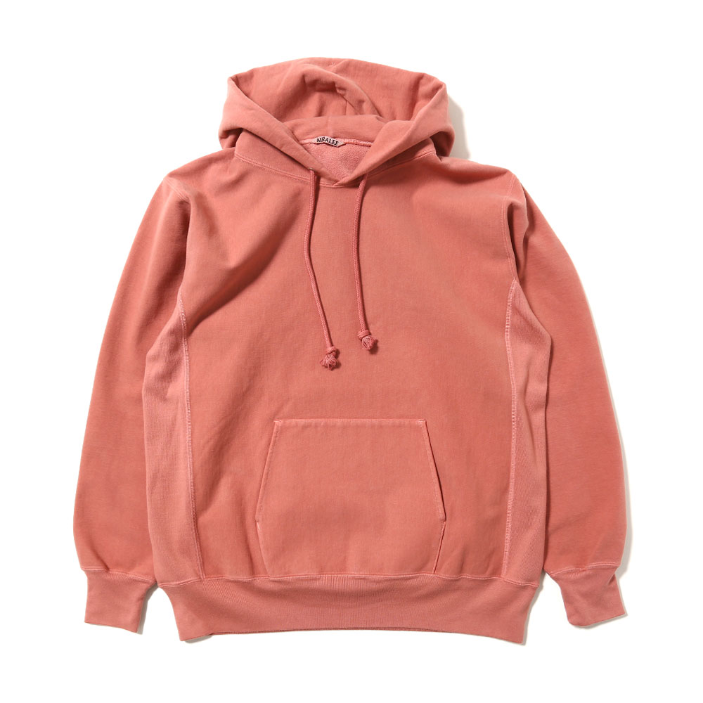 SUPER MILLED SWEAT P/O PARKA PINK RED