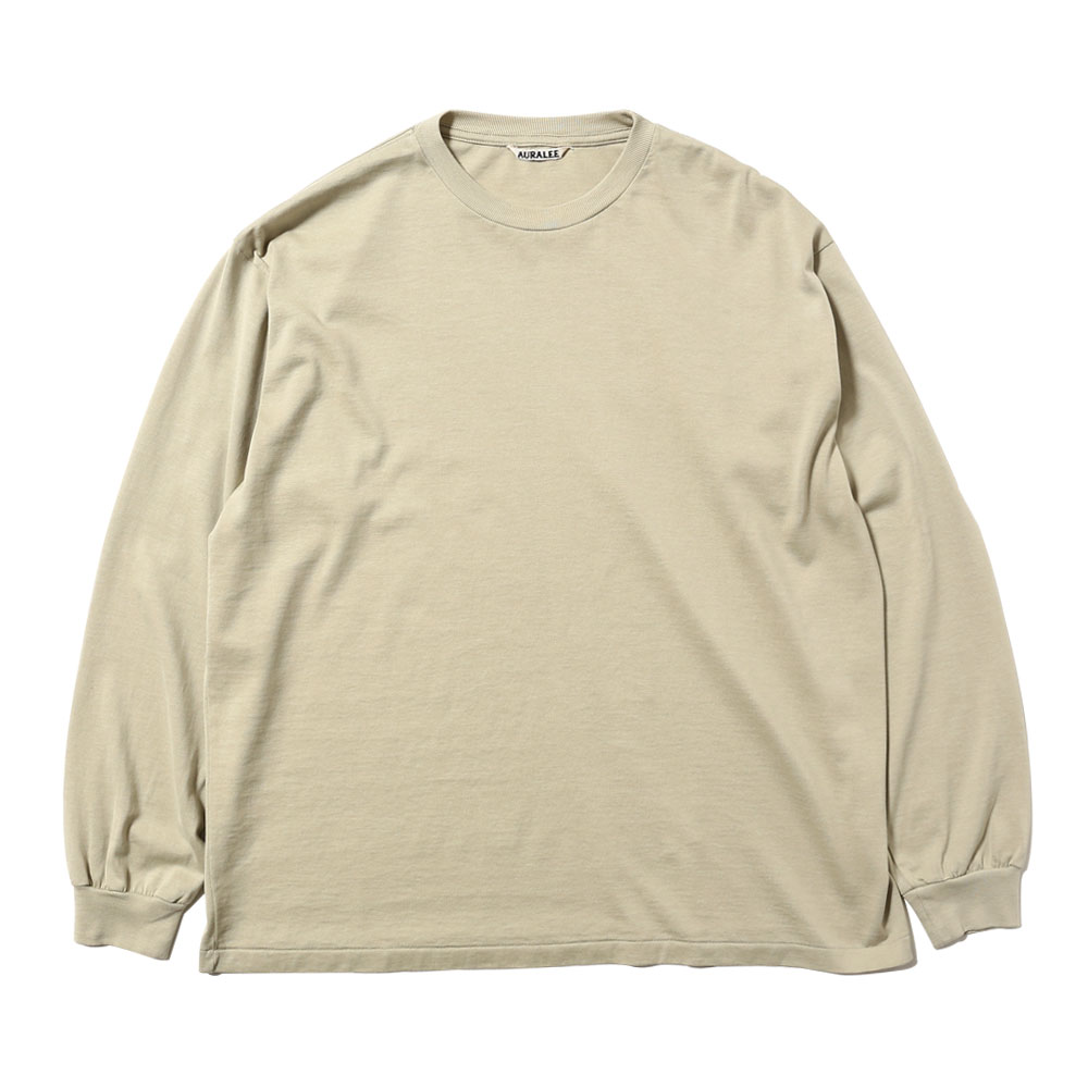 LUSTER PLAITING L/S TEE LIGHT GREEN