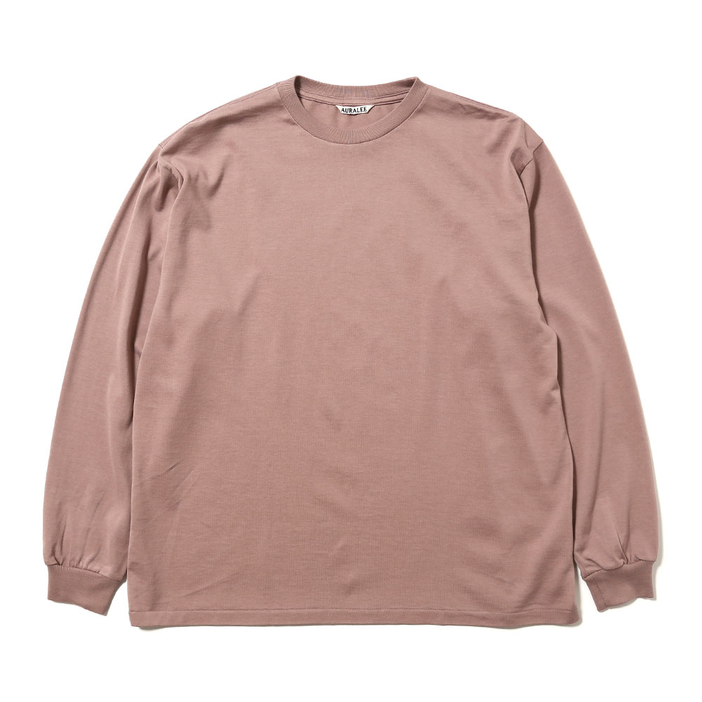 LUSTER PLAITING L/S TEE LIGHT BROWN