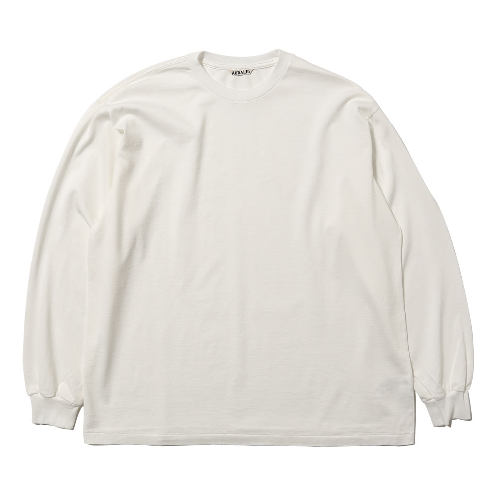 LUSTER PLAITING L/S TEE WHITE