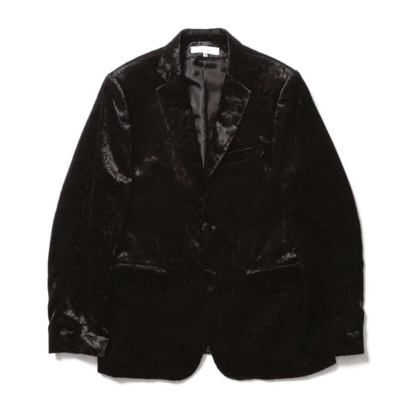 CARDING VELVET LAPEL JACKET BLACK