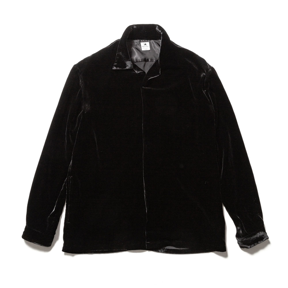 VELVET OPEN COLLAR SHIRT