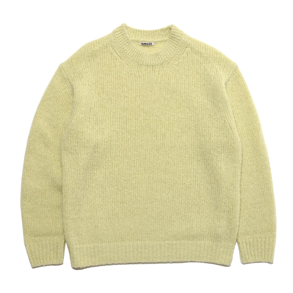 ALPACA WOOL SUPER LIGHT KNIT BIG P/O A20AP02AW LIGHT YELLOW