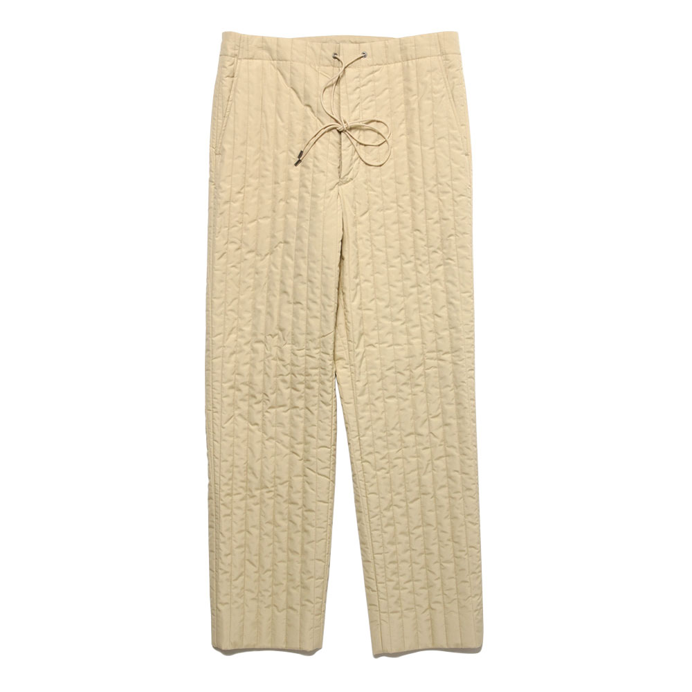SUVIN HIGH COUNT CLOTH QUILTING PANTS A20AP02SK IVORY