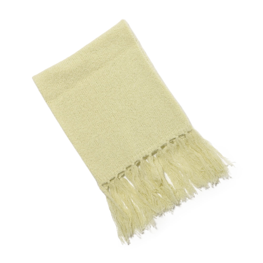 ALPACA WOOL SUPER LIGHT KNIT STOLE A20AM04AW LIGHT YELLOW