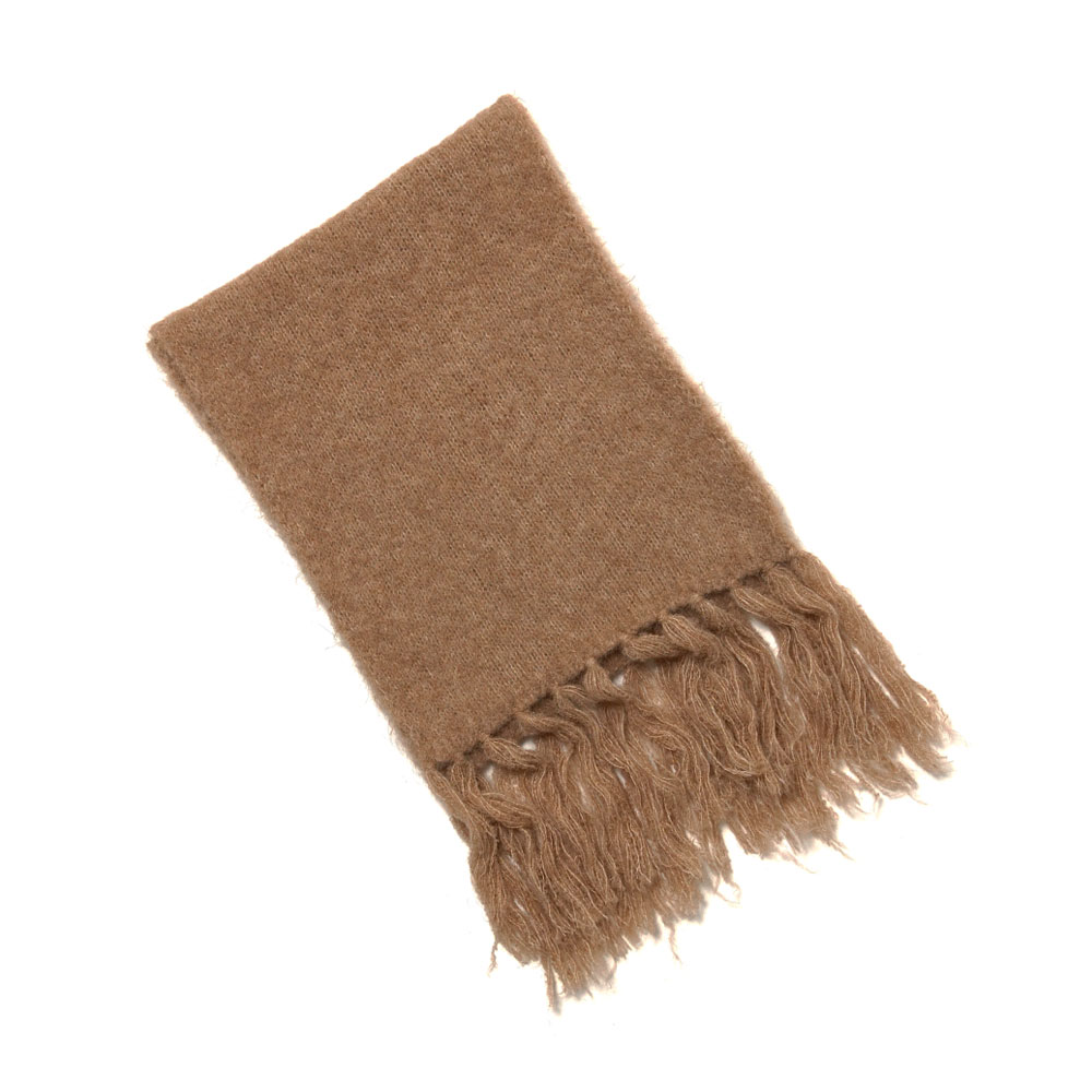 ALPACA WOOL SUPER LIGHT KNIT STOLE A20AM04AW TOP BEIGE
