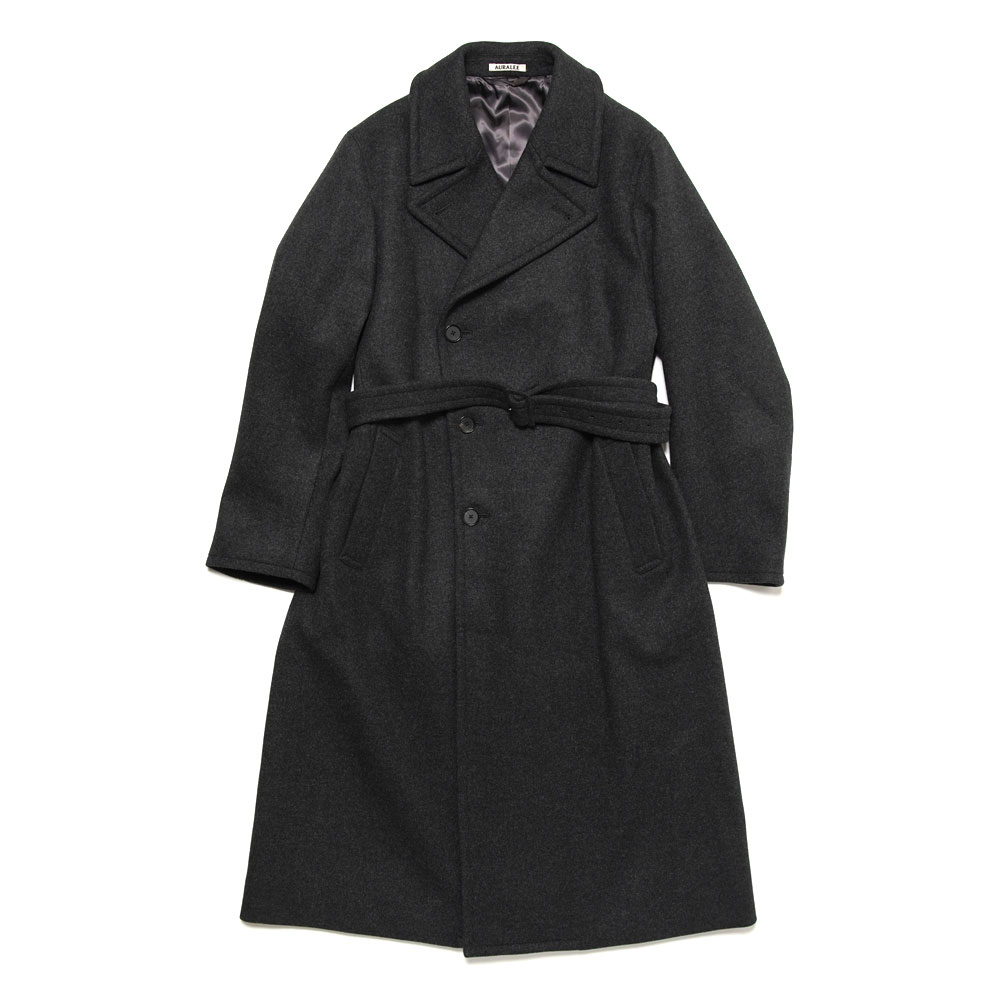 LIGHT MELTON DOUBLE-BREASTED COAT A20AC01LM TOP CHARCOAL