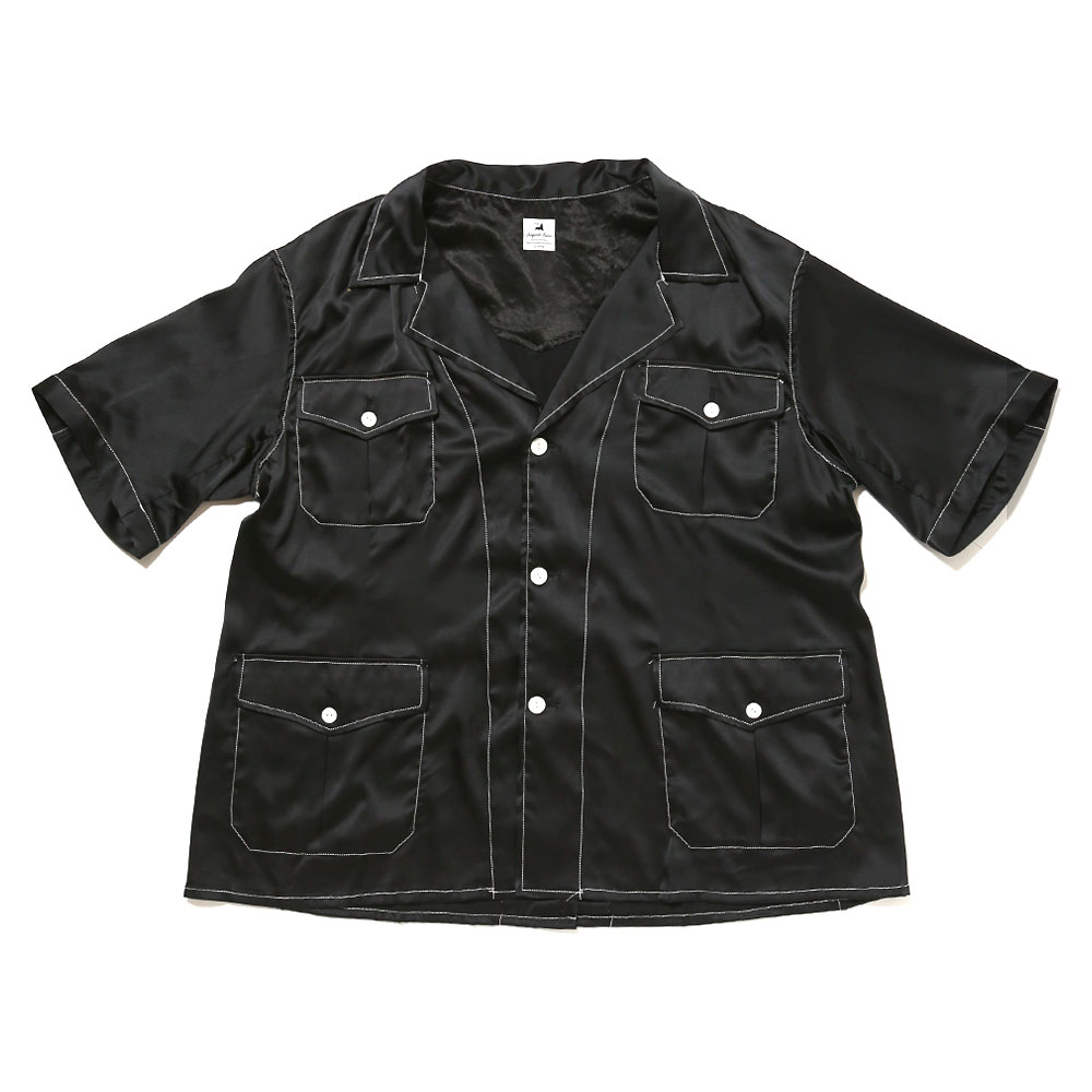 SILK SAFARI SHIRT BLACK