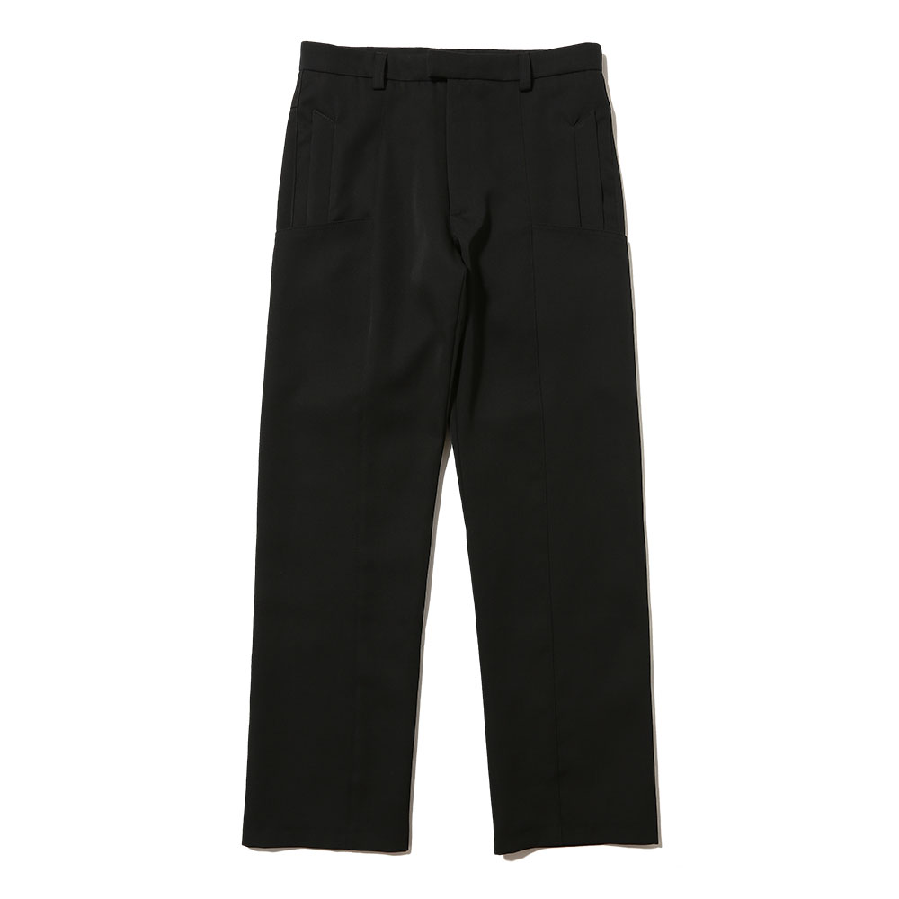 UNISEX TAILORED WOOL TROUSERS BLACK