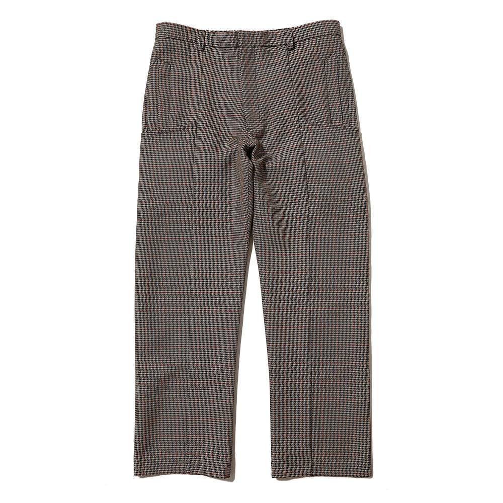 UNISEX TAILORED WOOL TROUSERS BROWN CHECK