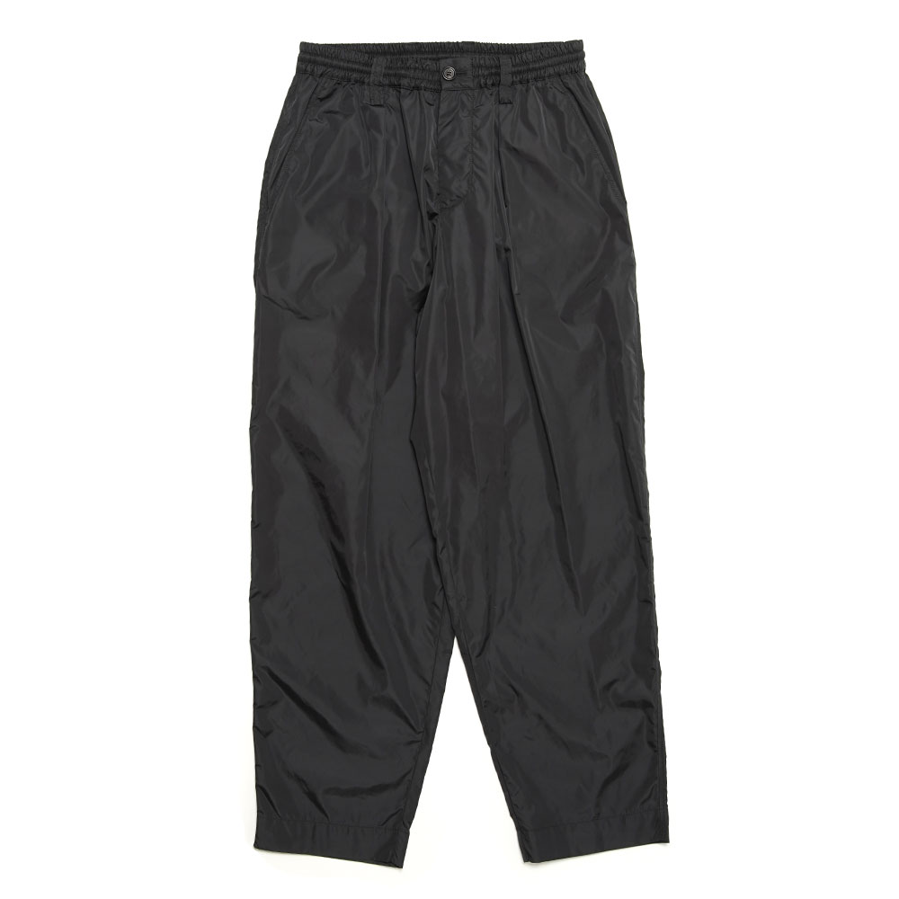 NYLON DRAPE TROUSERS BLACK