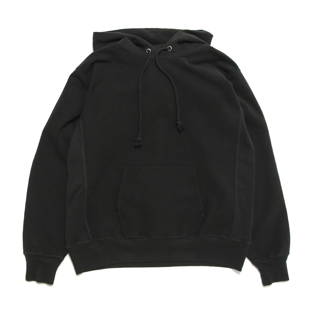 SUPER MILLED SWEAT P/O PARKA HOODIE A20AP01SM BLACK