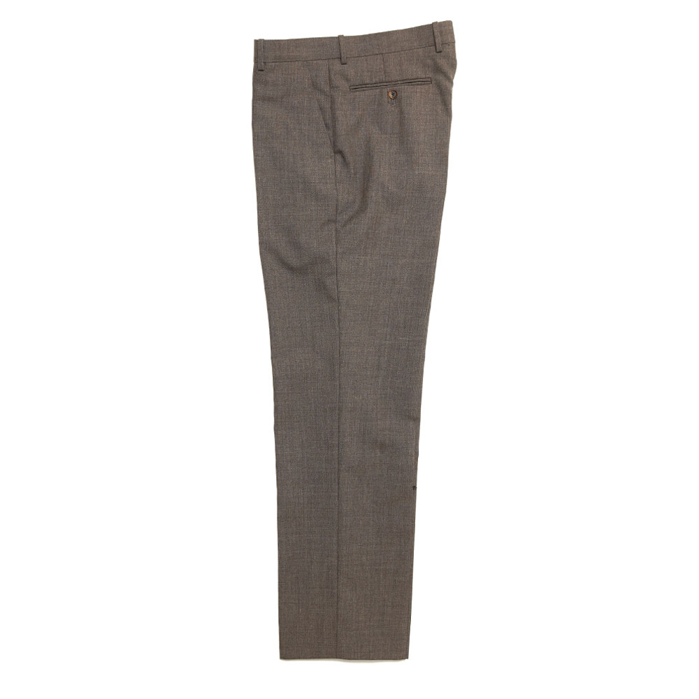 BLUEFACED WOOL SLACKS A20A02BH TOP BROWN