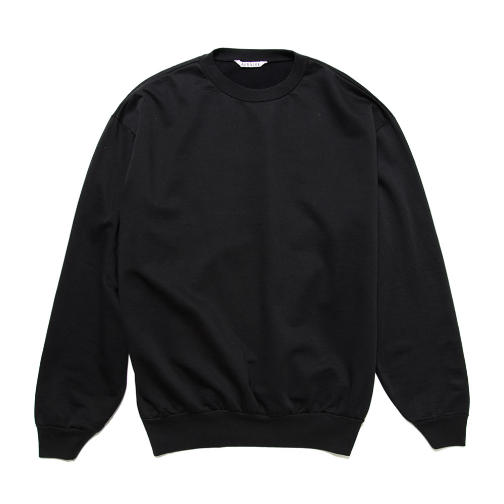 ELASTIC HIGH GAUGE SWEAT P/O A20AP02NU BLACK