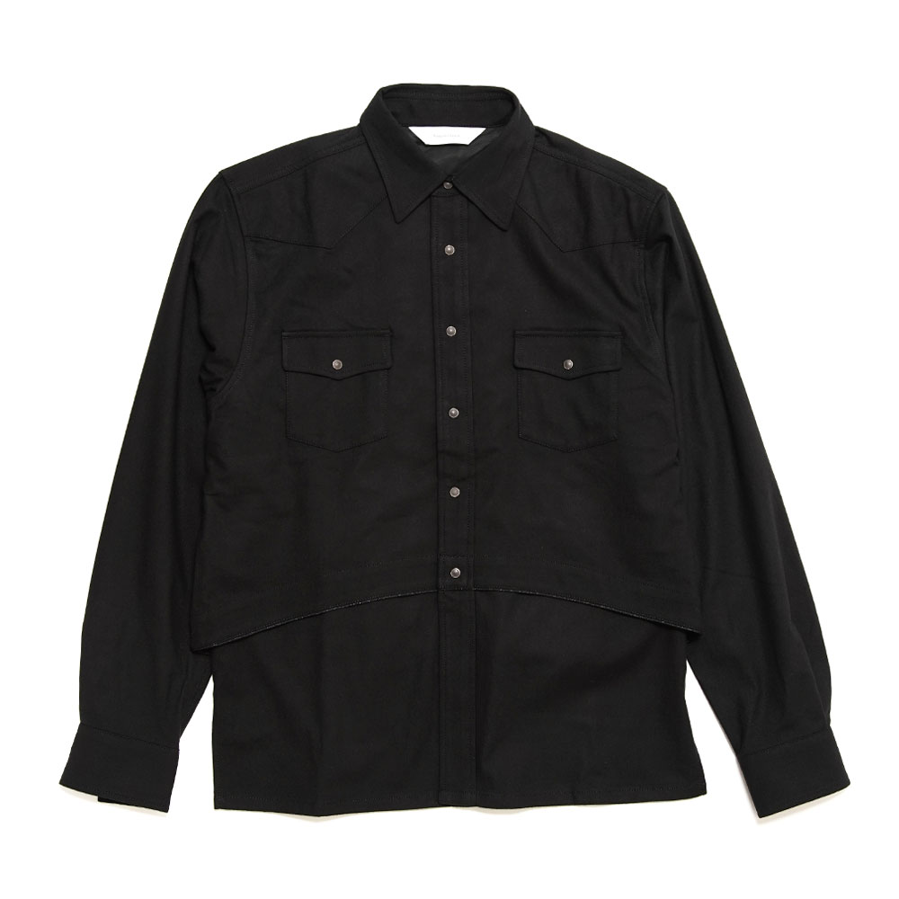 LAYERED WESTERN SHIRT BLACK