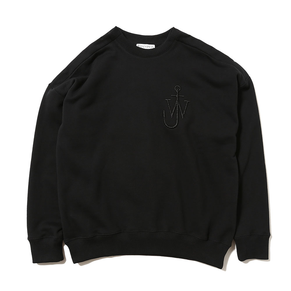 OVERSIZED SHOULDER PLACKET SWEATSHIRT BLACK