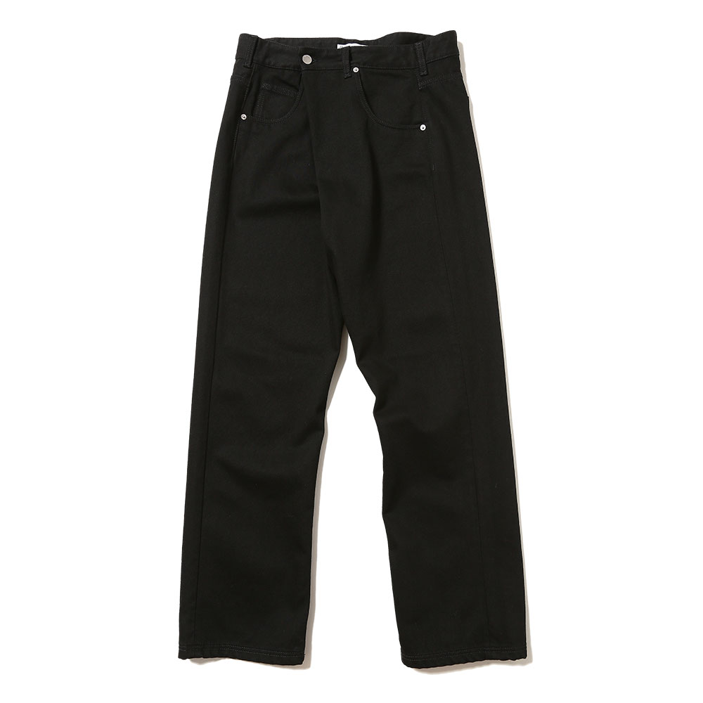 FOLD FRONT JEANS BLACK
