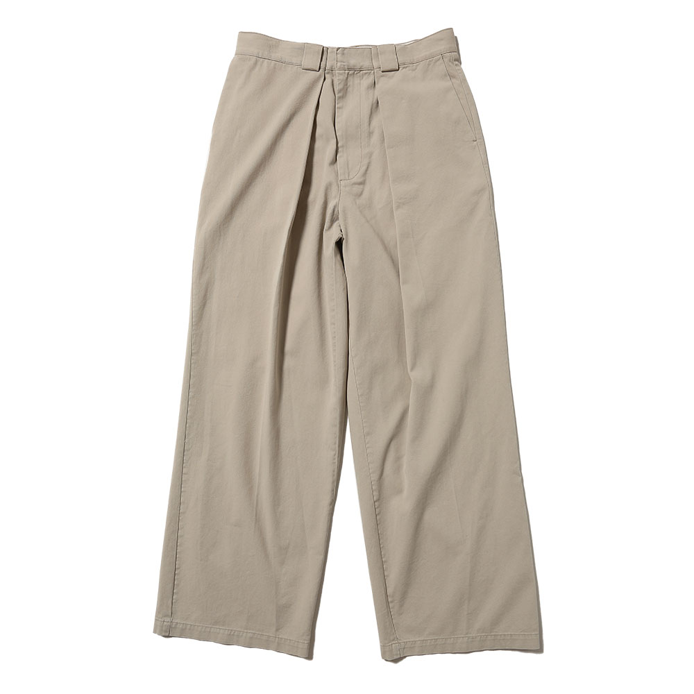 CHINO FRONT PLEATS TROUSERS