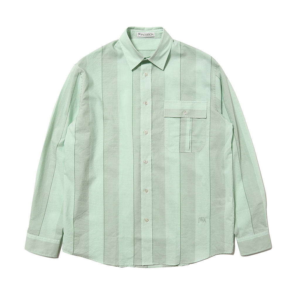 BROAD STRIPED COTTON SHIRT