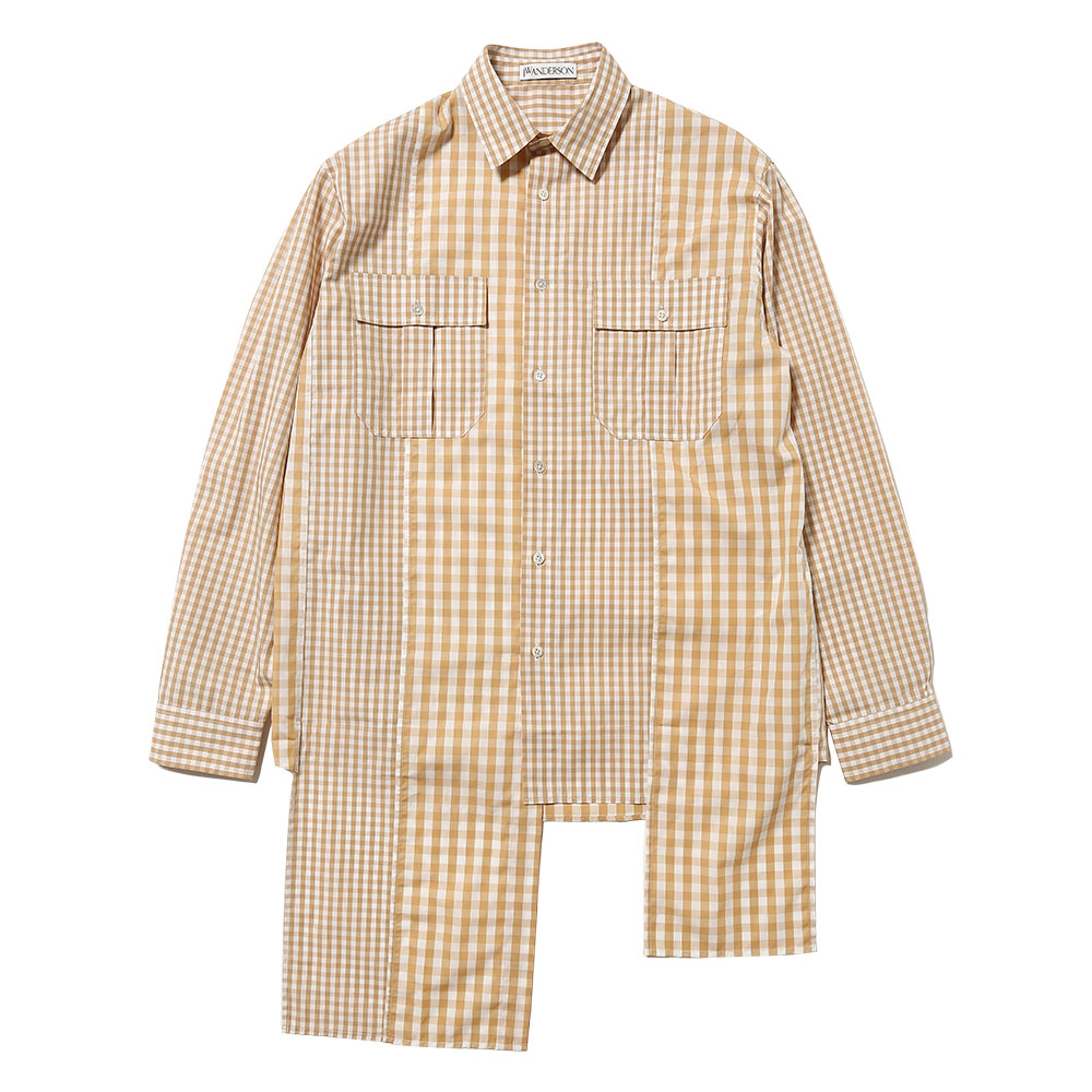 MULTIPANEL GINGHAM SHIRT