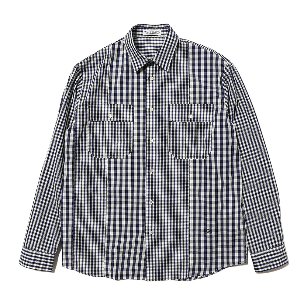GINGHAM PANELED SHIRT