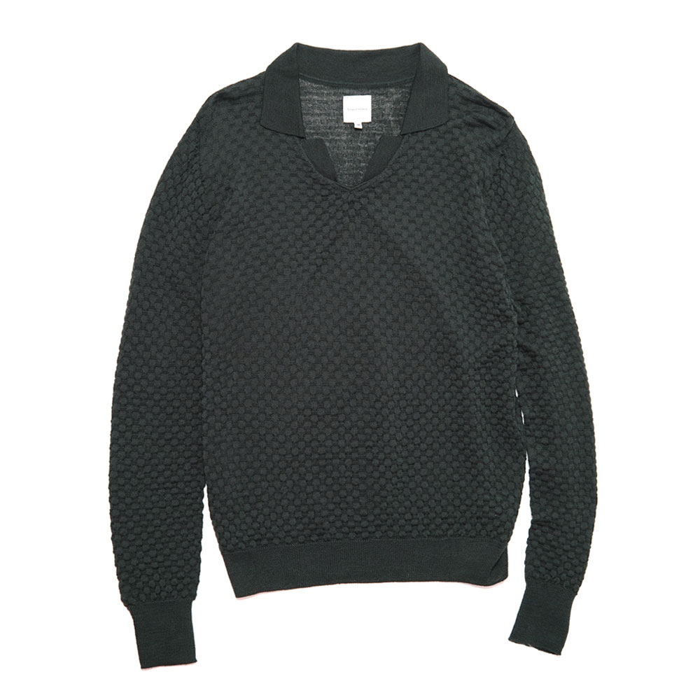SKIPPER KNIT DARK GREEN