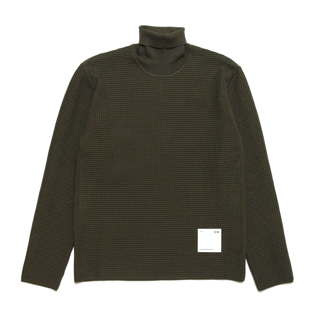 SPIRIT ROLLNECK KNITTED MILITARY GREEN