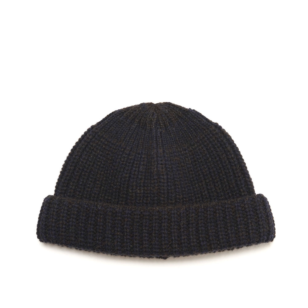 HENRY BEANIE KNITTED MILITARY BROWN NAVY