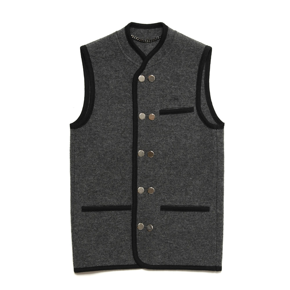 WALKER GILET DOUBLE BREASTED JKT12 ANTRACITE