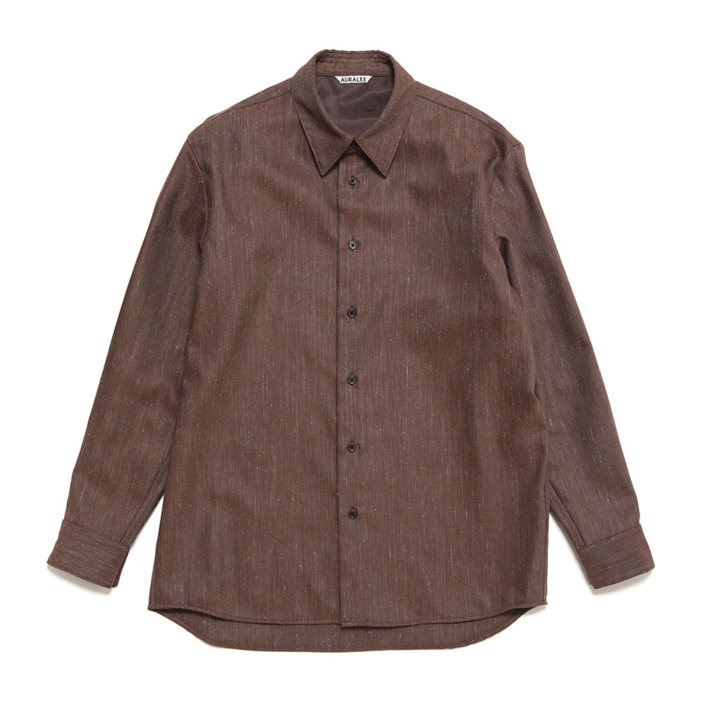 WOOL LINEN TWILL SHIRTS A20AS01WL TOP BORDEAUX