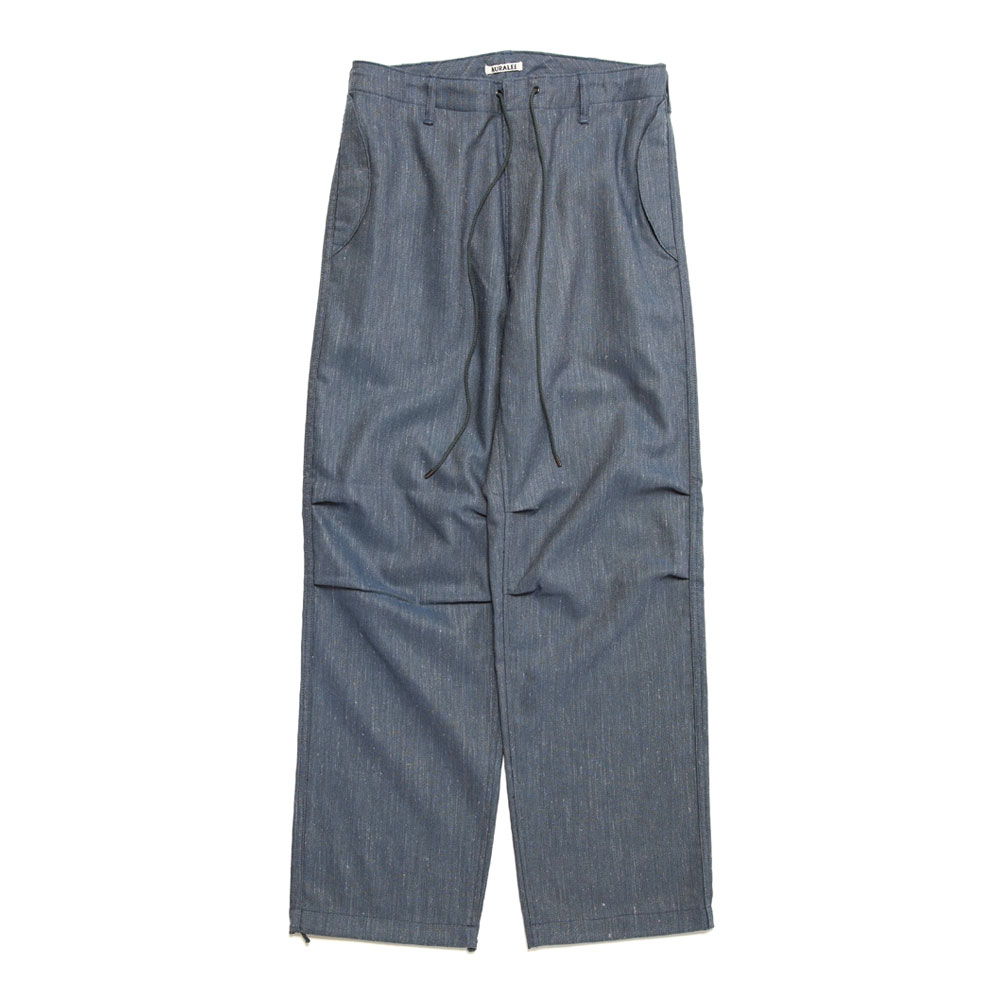 WOOL LINEN TWILL FIELD PANTS A20AP03WL TOP BLUE