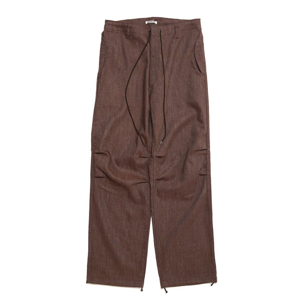 WOOL LINEN TWILL FIELD PANTS A20AP03WL TOP BORDEAUX
