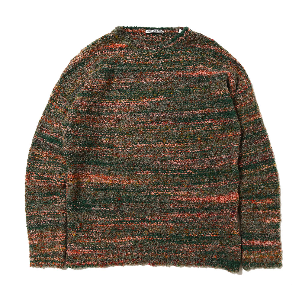 POPOVER ROUNDNECK RED/GREEN SMUDGE FAIR ISLE