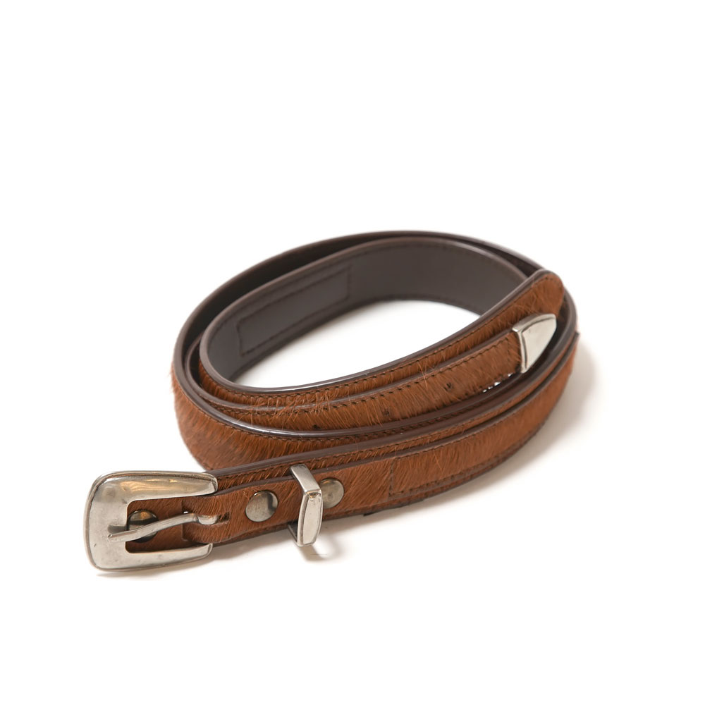 MINIMAL WESTERN BELT 3cm FAWNN BROWN