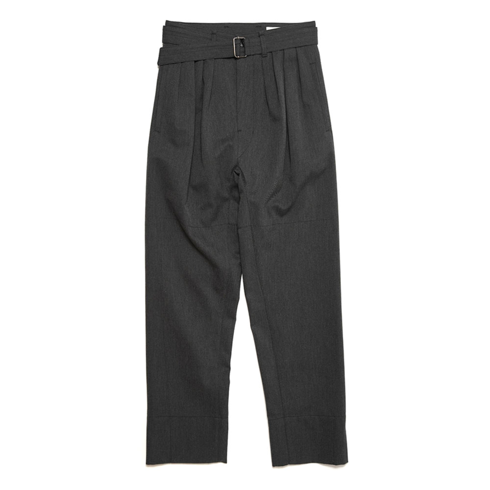 4 PLEATS PANTS ANTHRACITE