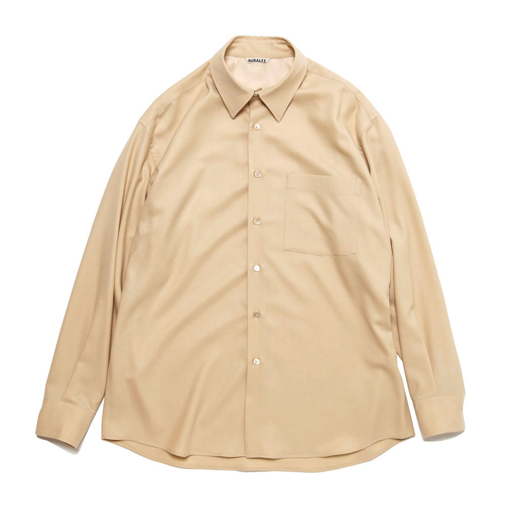 SUPER LIGHT WOOL SHIRTS LIGHT BEIGE