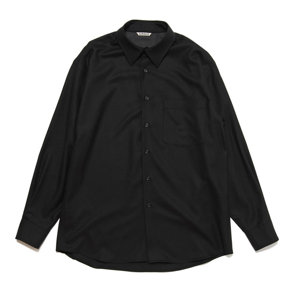 SUPER LIGHT WOOL SHIRTS BLACK