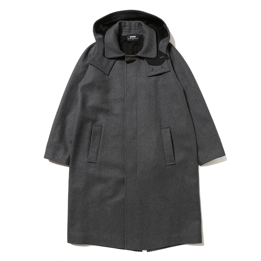 LD×GLOVERALL WOOL MELTON OVERCOAT WITH DETACHABLE
