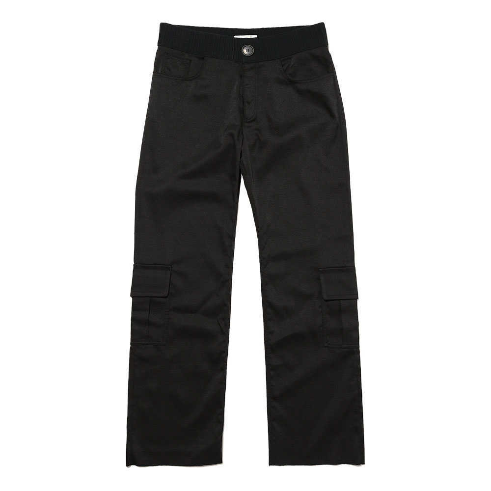CARGO PANTS W/ KNITTED WAISTBAND