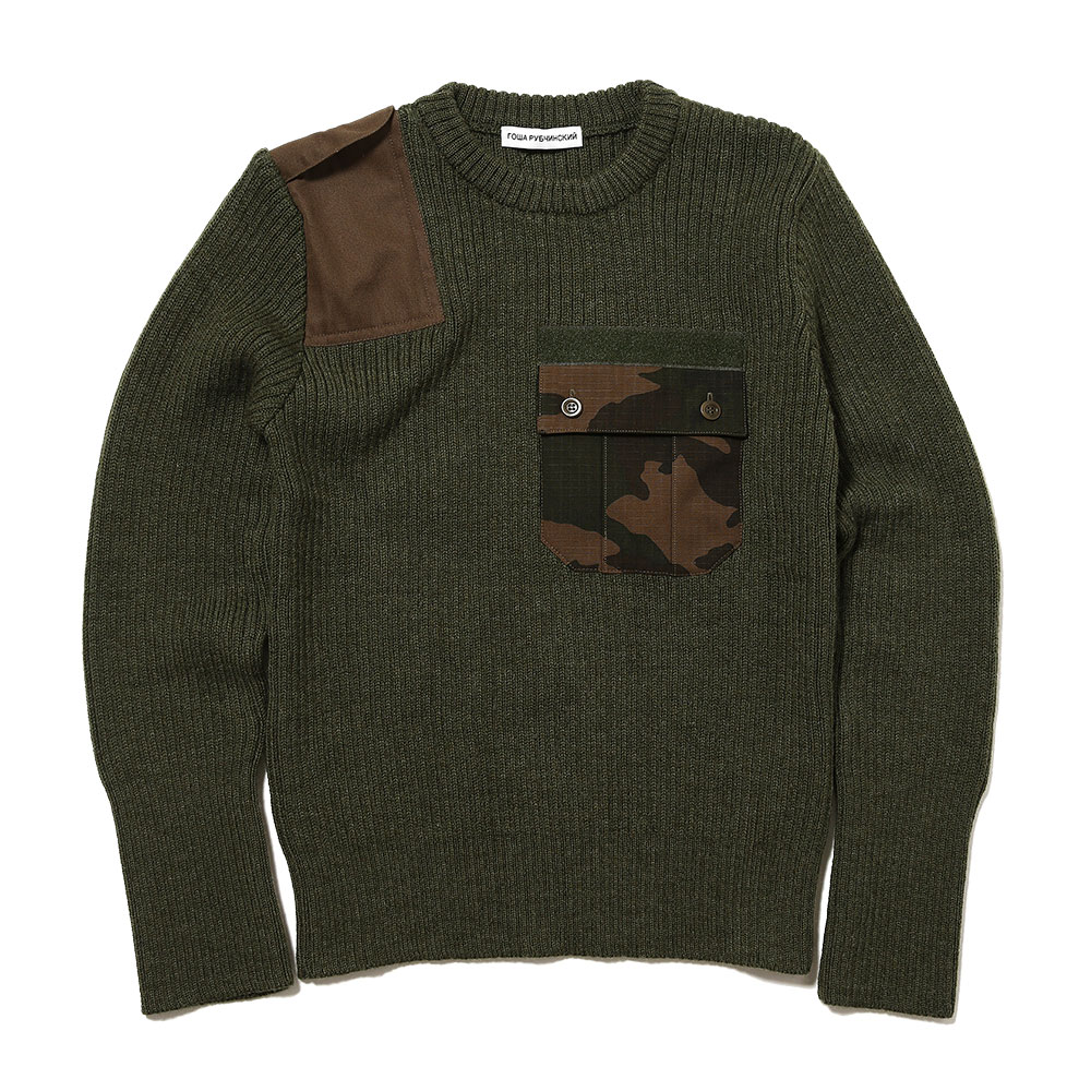 CAMO POCKET KNIT