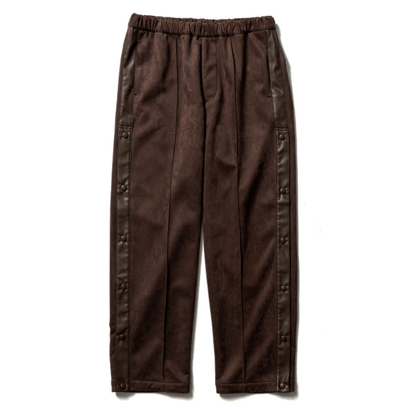 FAKE SUEDE TRAINING PANTS BROWN