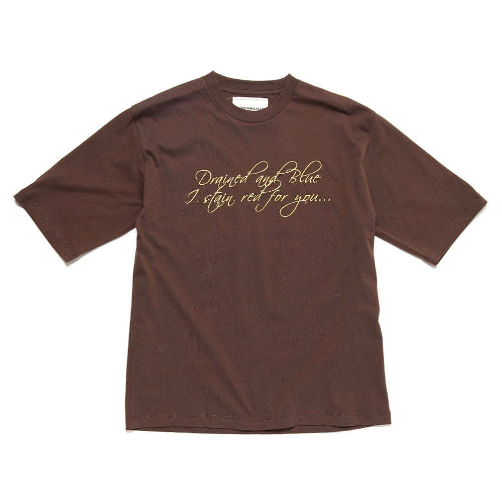 MESSAGE TEE BROWN