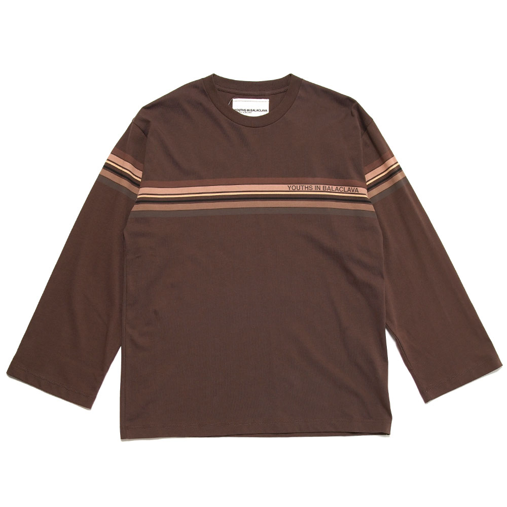 BORDER L/S TEE BROWN