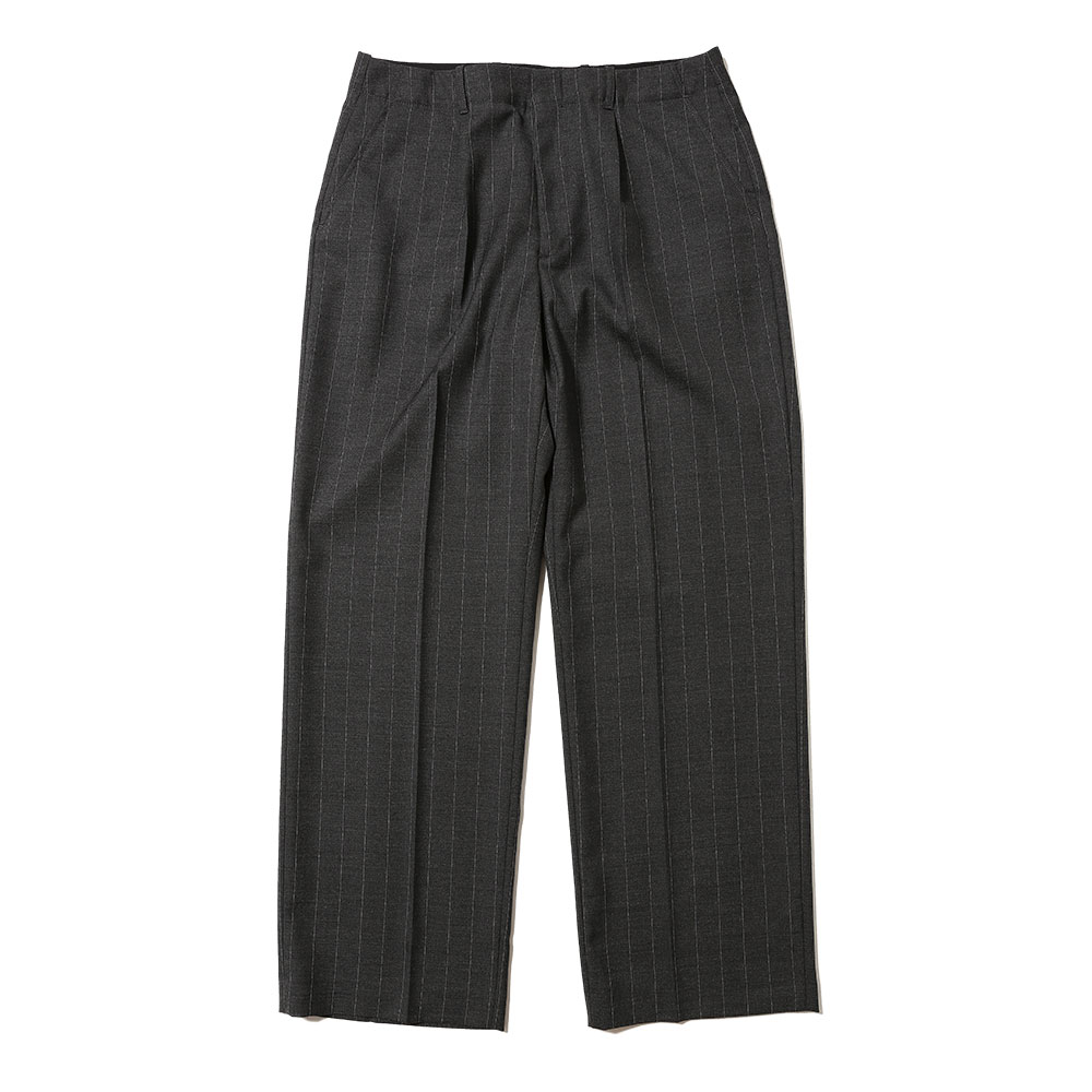 BORROWED CHINO GRAPHITE PINSTRIPE WOOL