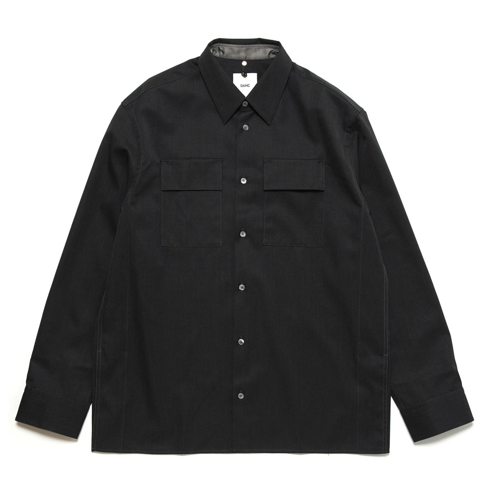 OFFICER SHIRT DARK HEATHER GREY