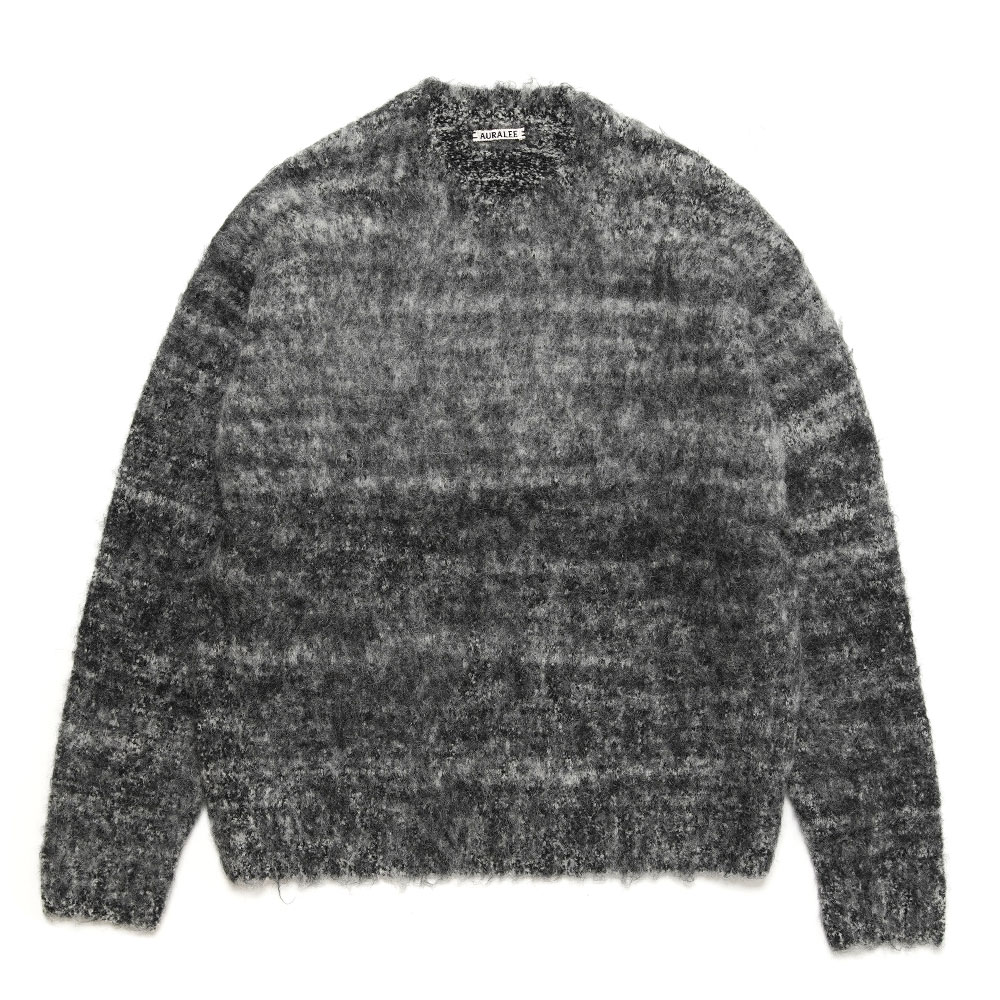 WOOL ALPACA FELT KNIT P/O A20AP02AP MIX BLACK