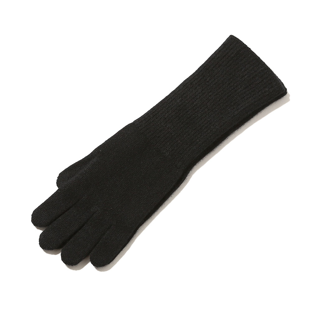 BABY CASHMERE KNIT LONG GLOVES BLACK