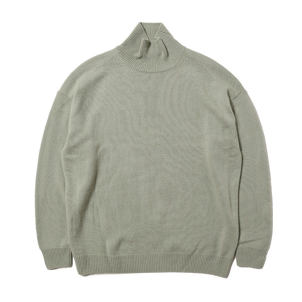 BABY CASHMERE KNIT TURTLE NECK P/O PALE GREEN