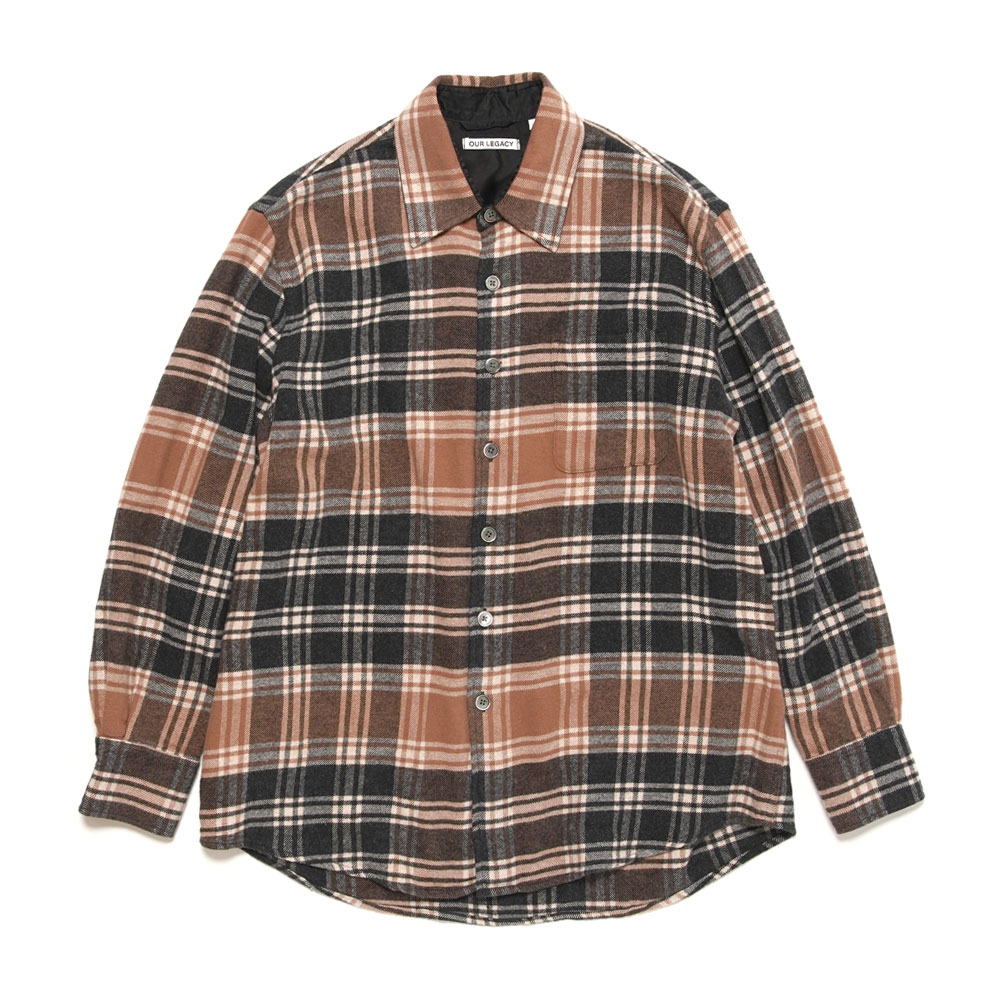 ABOVE SHIRT BROWN PLAID