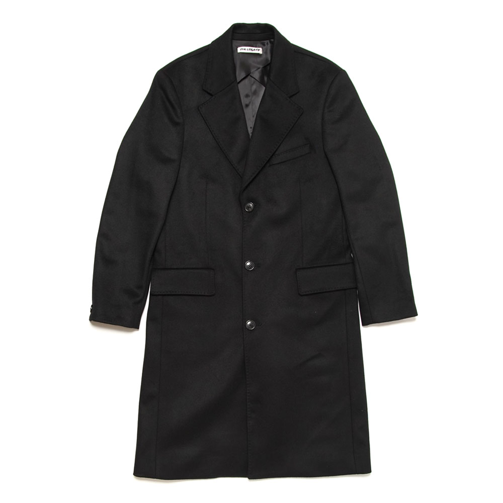 DOLPHIN COAT BLACK HEAVY MELTON